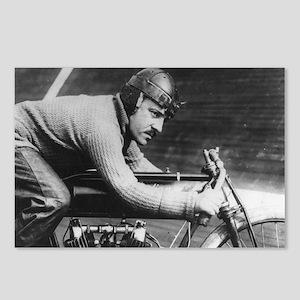 Vintage Motorcycle Racer Postcards (Package of 8)