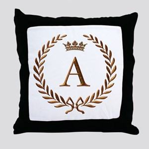 Napoleon initial letter A monogram Throw Pillow