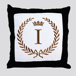 Napoleon initial letter I monogram Throw Pillow