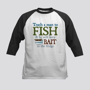 Teach a Man to Fish Kids Baseball Jersey