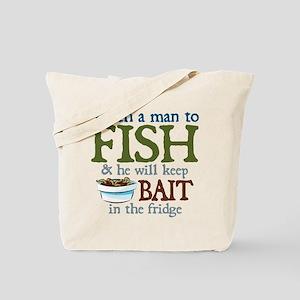 Teach a Man to Fish Tote Bag