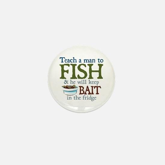 Teach a Man to Fish Mini Button