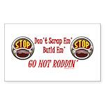 Go Hot Roddin'- Rectangle Sticker