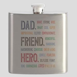 Dad Hero Flask