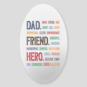 Dad Hero Sticker (Oval)
