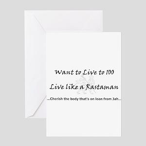Jah greeting cards cafepress rastaman greeting card m4hsunfo