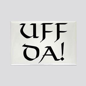 Uff Da! Rectangle Magnet
