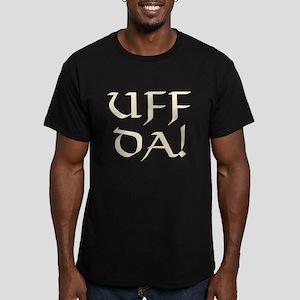 Uff Da! Men's Fitted T-Shirt (dark)
