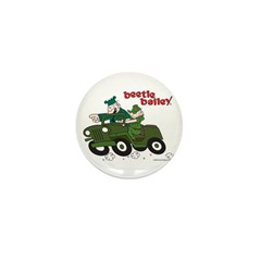 Beetle and Sarge in Jeep Mini Button