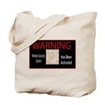 WARNING - Wireless Security Sys Doberman Tote Bag