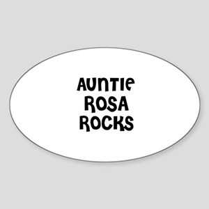 AUNTIE ROSA ROCKS Oval Sticker