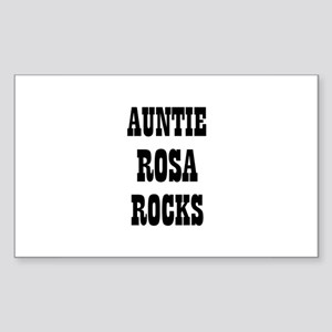 AUNTIE ROSA ROCKS Rectangle Sticker