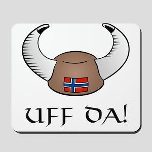 Uff Da! Viking Hat Mousepad