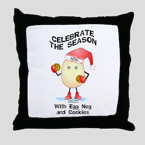 Holiday Egg Nog Throw Pillow