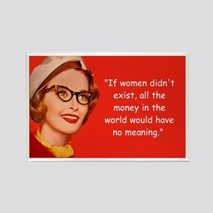 Women & Money Rectangle Magnet