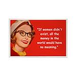 Women & Money Rectangle Magnet