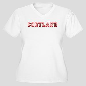 Cortland Women's Plus Size V-Neck T-Shirt