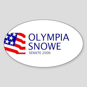 Snowe 06 Oval Sticker