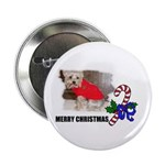 MERRY CHRISTMAS YORKSHIRE TERRIER Button