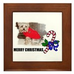 MERRY CHRISTMAS YORKSHIRE TERRIER Framed Tile