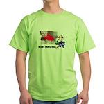 MERRY CHRISTMAS YORKSHIRE TERRIER Green T-Shirt