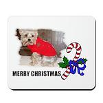 MERRY CHRISTMAS YORKSHIRE TERRIER Mousepad