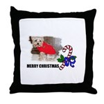 MERRY CHRISTMAS YORKSHIRE TERRIER Throw Pillow