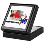 MERRY CHRISTMAS YORKSHIRE TERRIER Keepsake Box
