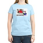 MERRY CHRISTMAS YORKSHIRE TERRIER Women's Pink T-S