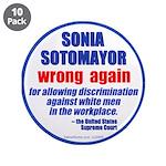 "Sotomayor Wrong 3.5"" Button (10 pk)"