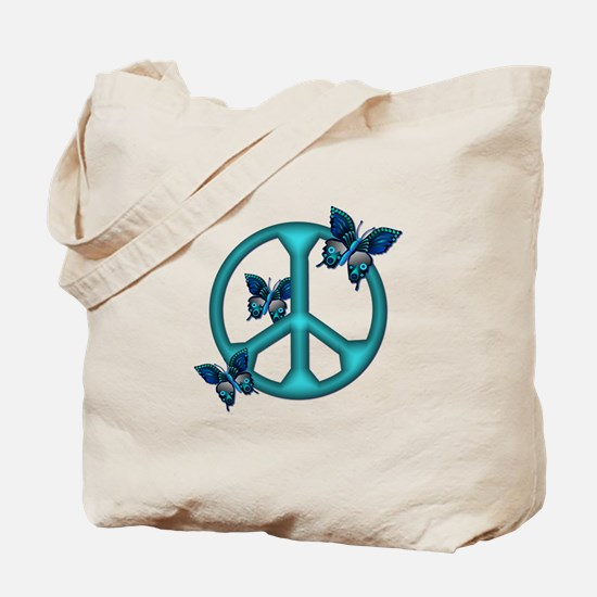 Peaceful Blue Butterflies Pea Tote Bag