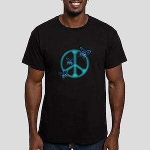 Peaceful Blue Butterflies Pea Men's Fitted T-Shirt
