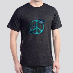 Peaceful Blue Butterflies Pea Dark T-Shirt
