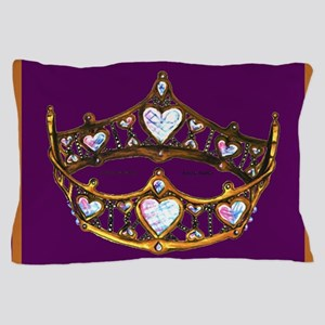 Queen of Hearts Gold Crown Tiara Royal Purple rug