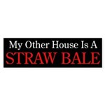 """""""My Other House is a Straw Bale"""" Sticker"""
