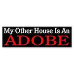 """My Other House is an Adobe"" Sticker (Bu"