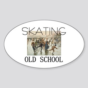 TOP Skating Old School Oval Sticker