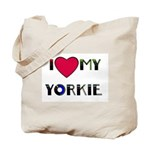 I LOVE MY YORKIE (MERRY XMAS ON BACK)Tote Bag