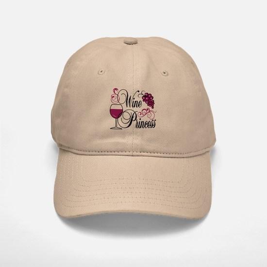 Wine Princess Baseball Baseball Cap