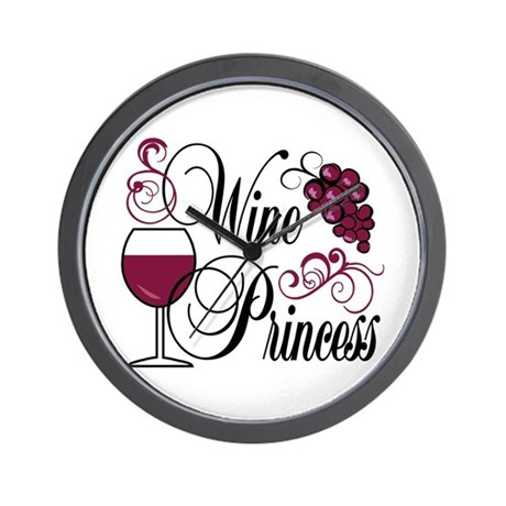 Wine Princess Wall Clock