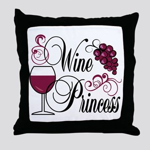 Wine Princess Throw Pillow