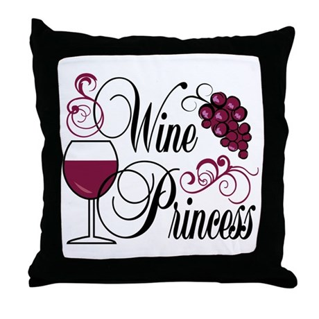 Wine Princess Throw Pillow