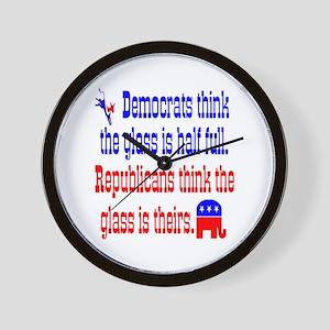 Democrats Vs. Republicans Wall Clock