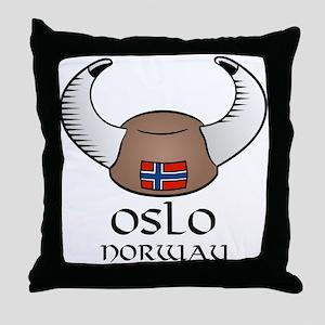 Oslo Norway Throw Pillow