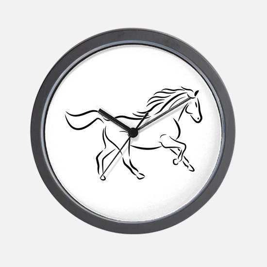 Running Horse Right Wall Clock