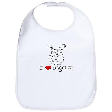 I Heart Angora Rabbits Bib