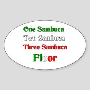 Sambuca Oval Sticker