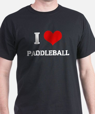 I Love Paddleball Black T-Shirt