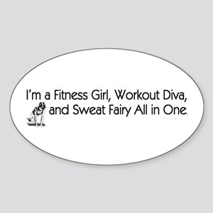 Workout Diva Sticker (Oval 10 pk)