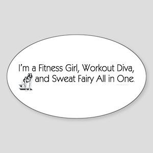 Workout Diva Sticker (Oval 10 pk)